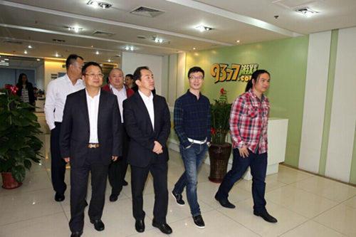 四川省政协副主席陈放等领导参观9377游戏